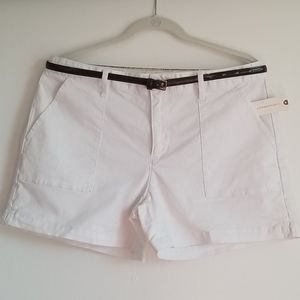White Anthroplogie Jean Shorts